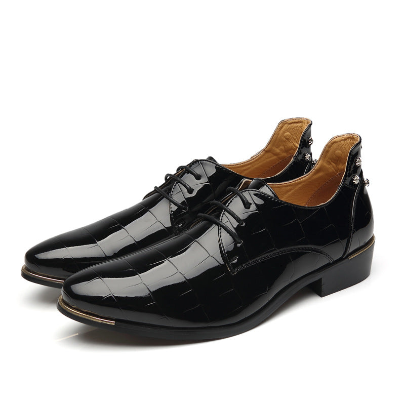 Fashion Pointy Breathable Dress Leather Shoes
