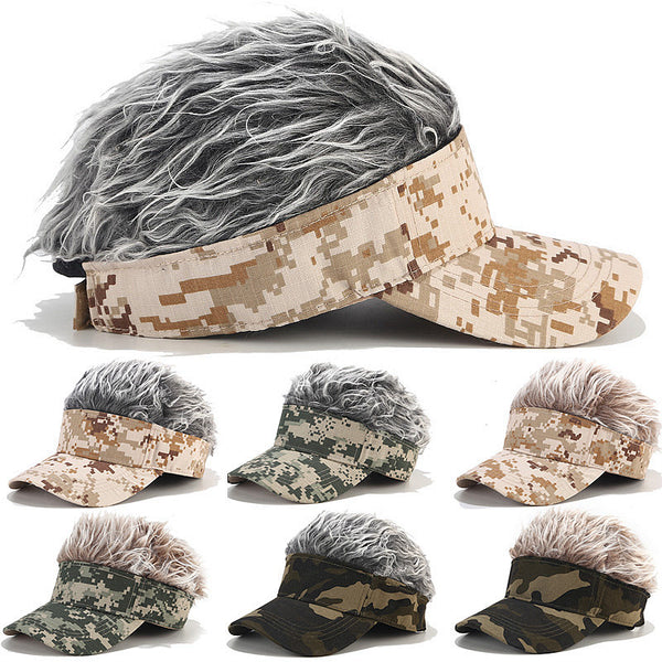 Street Trend Wig Camouflage Baseball Cap