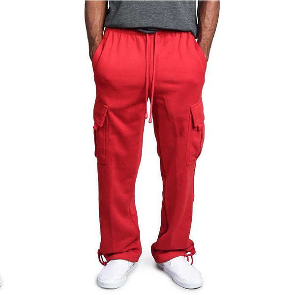 Men's Casual Multi-pocket Loose Straight Pants