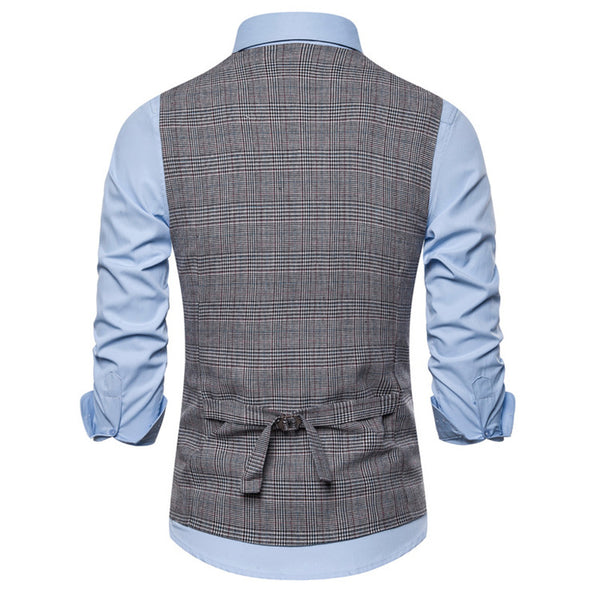 Fashion Casual V-neck British Style Suit Vest