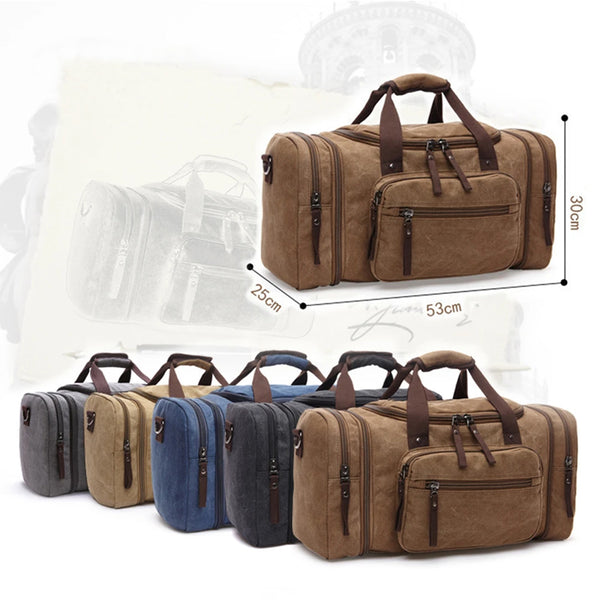 Large Capacity Men Hand Luggage Canvas Travel Bags