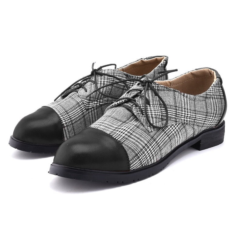 Vintage Oxford Lace-up Leather Shoes