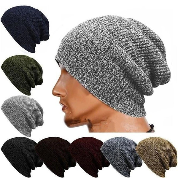 Winter Casual Cotton Knit Cap