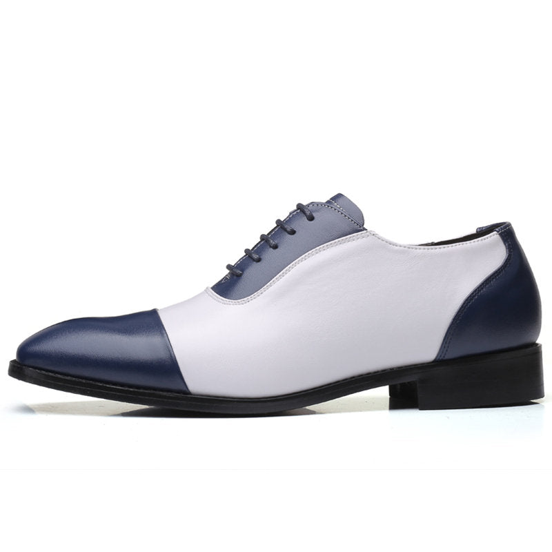Leather Splicing Non Slip Business Casual Formal Shoes