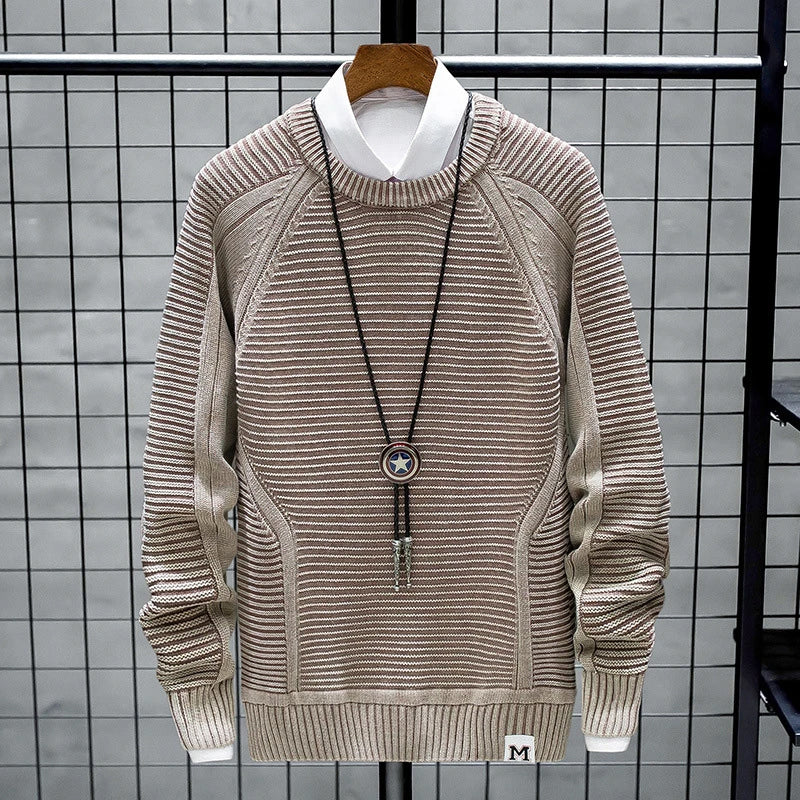 Mens Spring Round Neck Pullover
