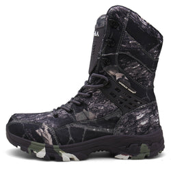 Outdoor Breathable Waterproof Camouflage Military Boots