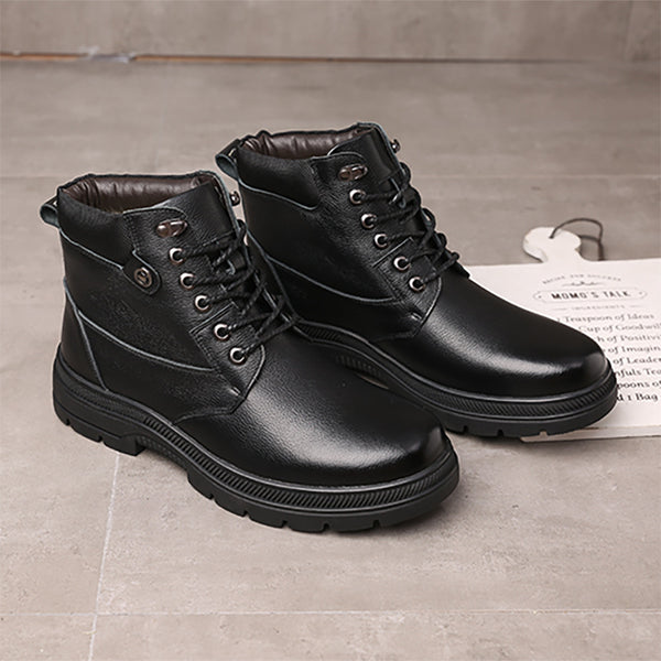 Men's Hit In Sole Velvet Cotton Leather Boots