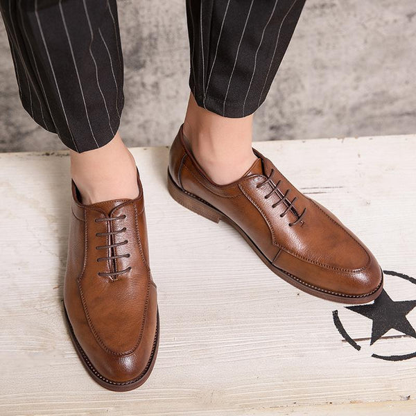 Men's Vintage Business Flats Driving Shoes