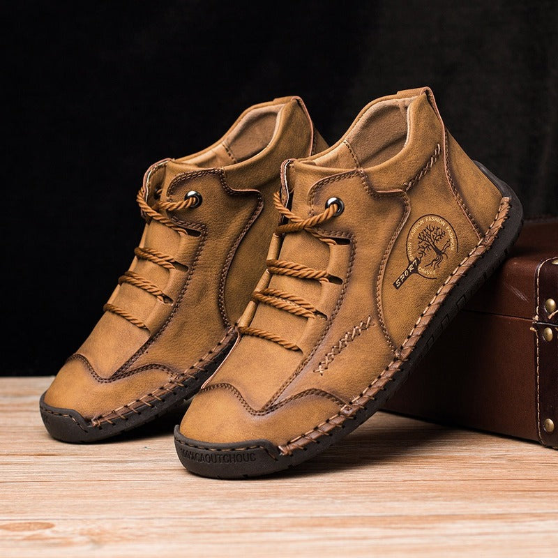 Vintage Hand Stitched Comfort Soft Leather Boots