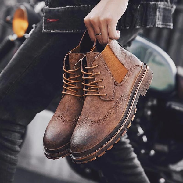 Men's Thick-bottom Classic Casual Boots