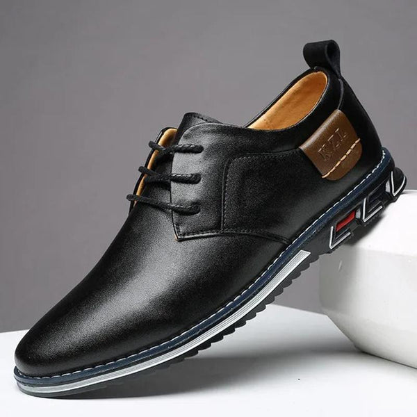 Men Comfortable Soft Lace Up Business Casual Leather Shoes