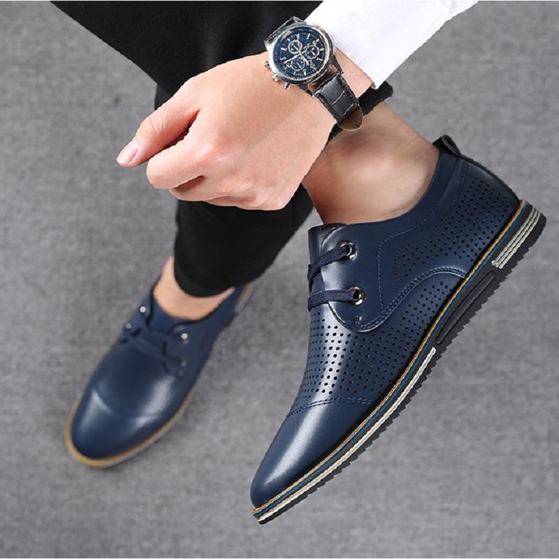 Men's New Britsh Style Casual Leather Shoes