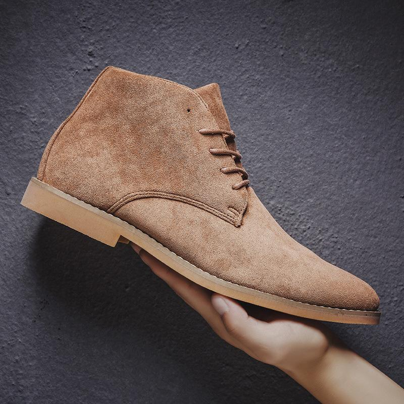 Men's Vintage Suede Pointed Toe Martin Boots