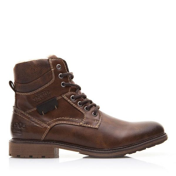 Men's Retro Motorcycle Wind And Cashmere Martin Boots