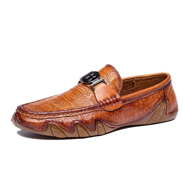 New Handmade Flat Bottom Breathable Leather Loafers