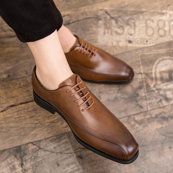 Fashion Italy Business Dress Men Leather Shoes