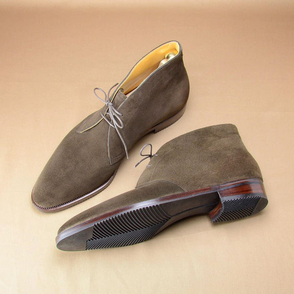 Men's Handmade Lace-Up Ankle Boots