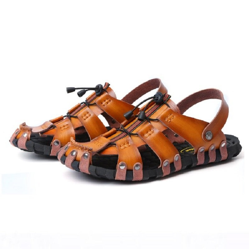 Closure Handmade No Glue Soft Gladiator Sandals