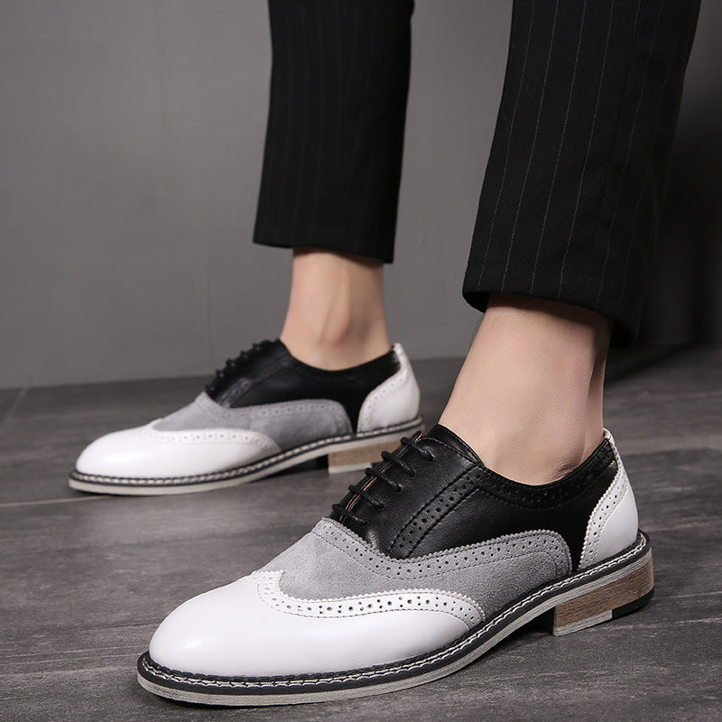 Mixed Colors Men's Vintage Formal Dress Shoes