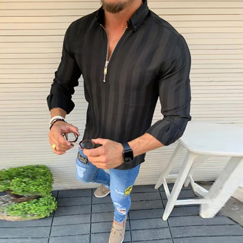 Men's Zipper Fashion Slim Shirt