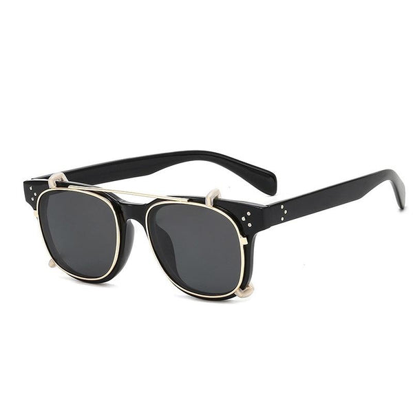Fashionable Steampunk Square Sunglasses
