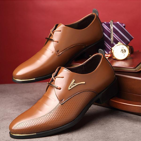 Men's Business Leather Oxfords Shoes