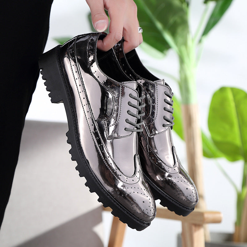 Patent Leather Lace Up Formal Office Shoes
