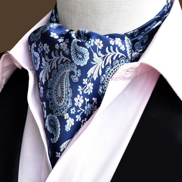 Men's Warm Jacquard Paisley Polyester Silk Scarf