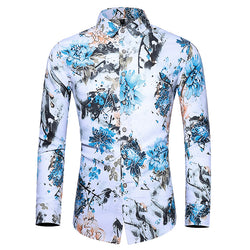 Fashion Business Long Sleeve Floral Shirt