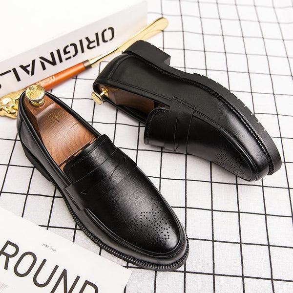 Men Casual Breathable Business Office Leather Shoes