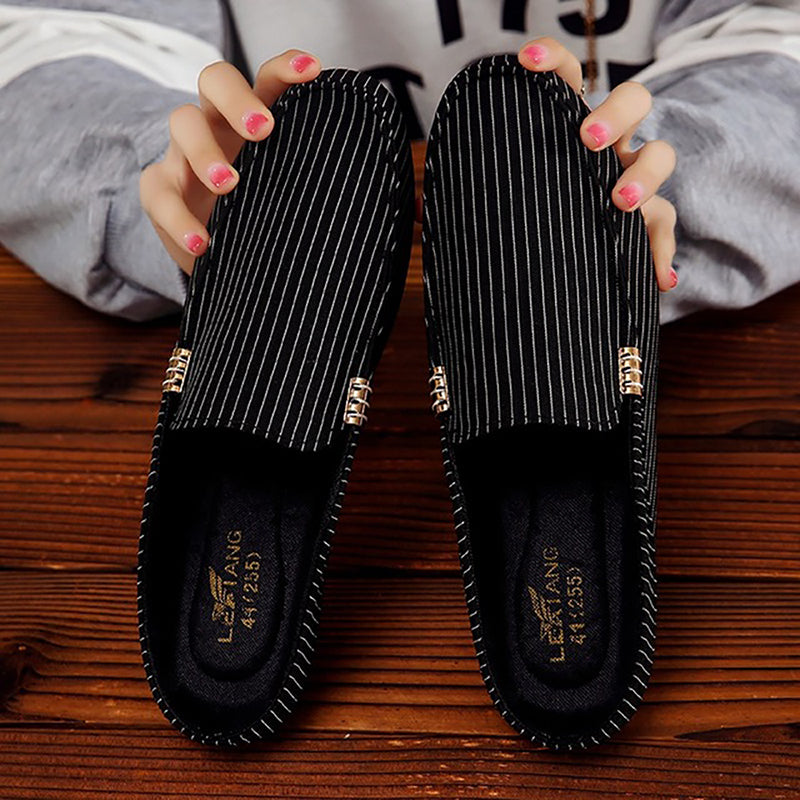 Stylish Lazy Canvas Breathable Surface Sandals