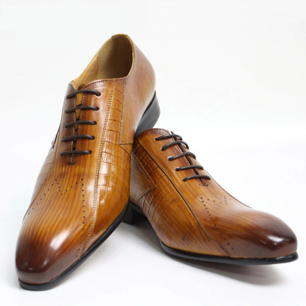 Italian Luxury New Fashion Lace-up Leather Shoes