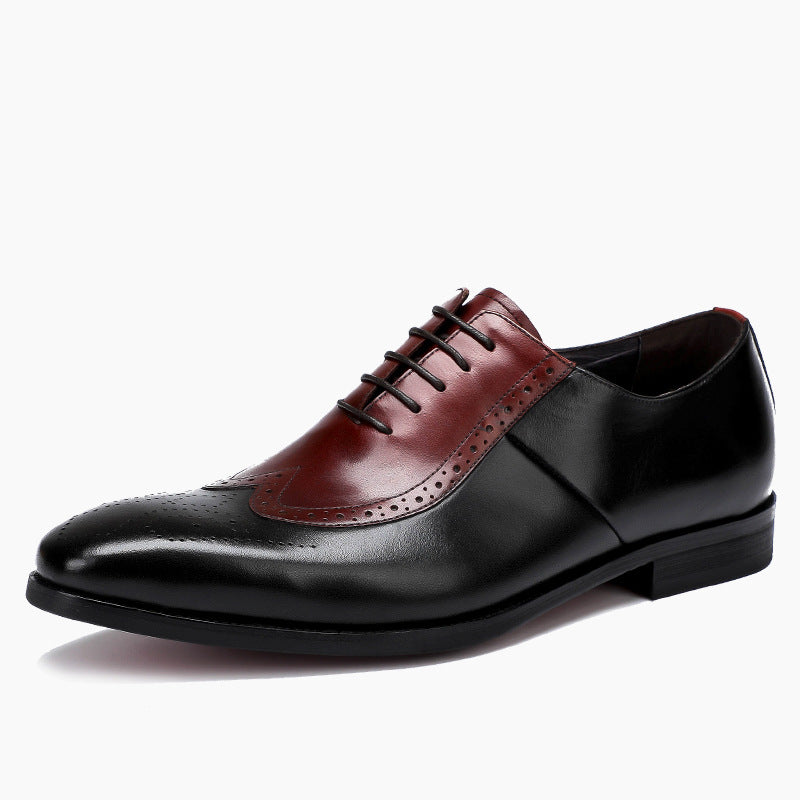 Clown Fashion Men's Leather Flat Heel Shoes