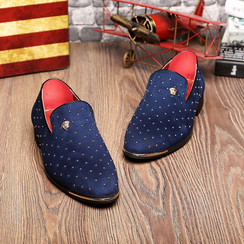 Men Rivet Decoration Wedding loafers