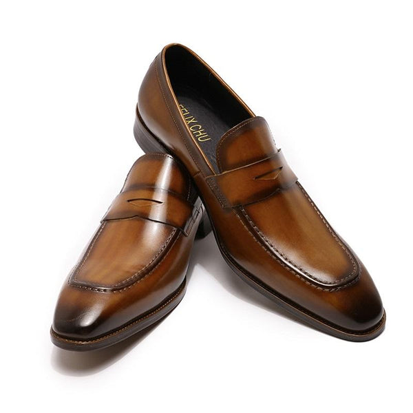 High-quality Hand-painted Non-slip Business Dress Shoes