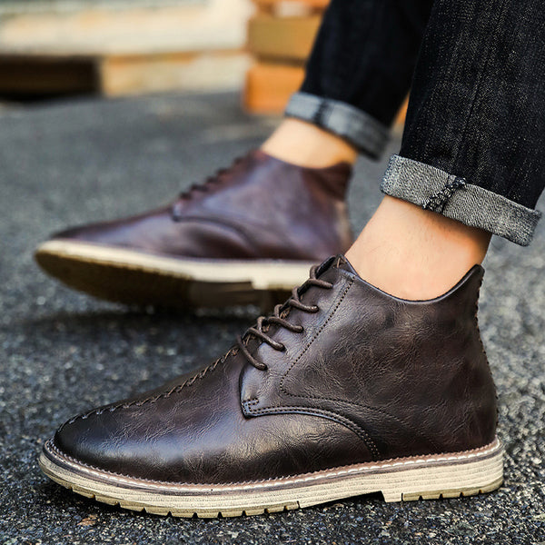 Solid High Cut Casual Shoes