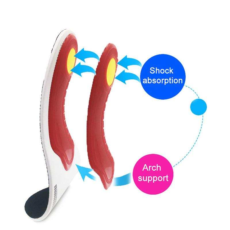 Unisex Orthotic Gel High Arch Support Insoles