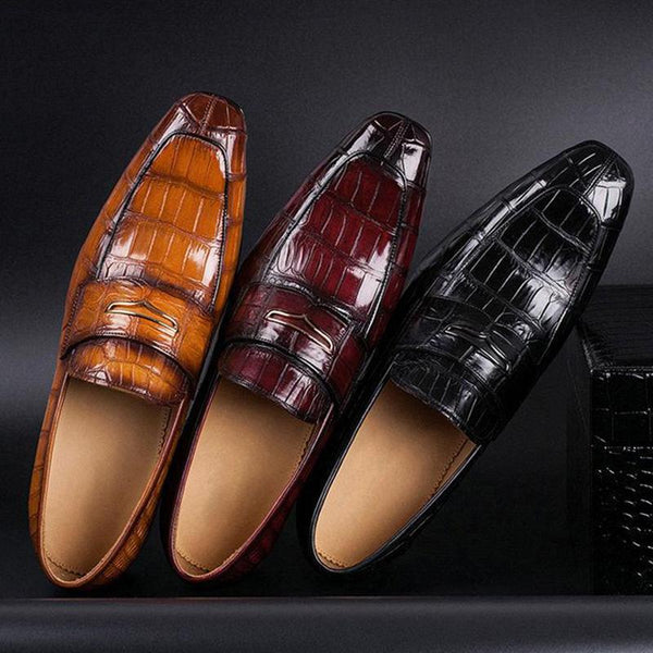 Men's British Style Pointed Leather Business Shoes