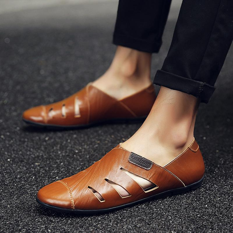 Handmade Genuine Leather Men Loafers Soft Shoes Casual Brand Comfortable Autumn Winter Warm Fur Slip On Man Flats Shoes