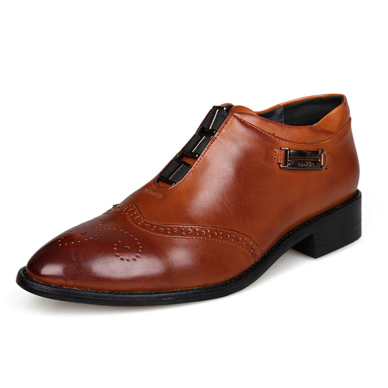 British Business Brock Carved Vintage Shoes