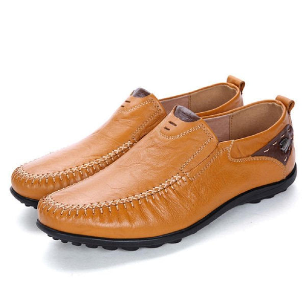Cow Leather Large Size Soft Casual Driving Shoes