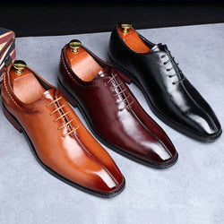 Men's British Style Pointed Wedding Dress Shoes