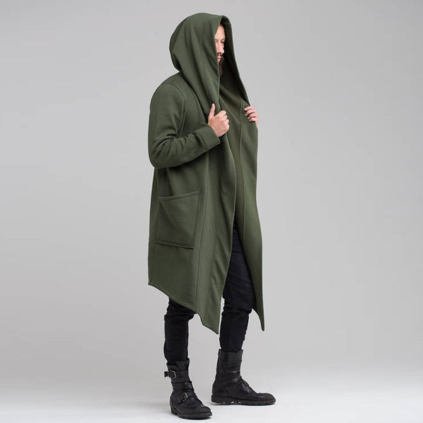 Long Cardigan Cloak Coat Hoodie