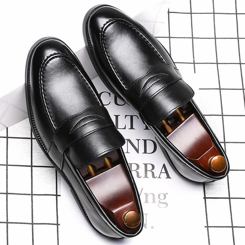 Trendy British Style Casual Men's Leather Shoes