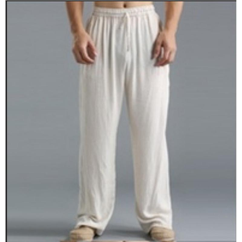 Men's cotton breathable casual loose pants