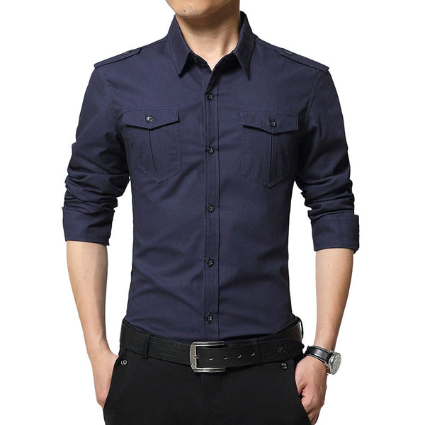 Fashion Military Fit Slim Shirt