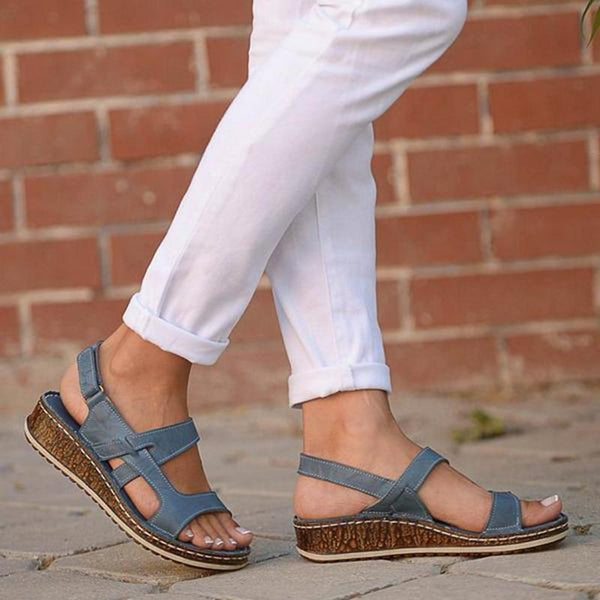 Women Summer Adujustable Strap Color Sandals