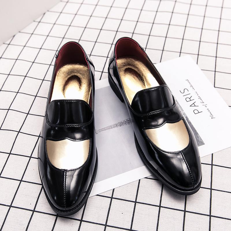 British Style New Korean Trend Stitching Business Shoes