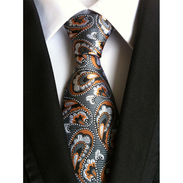 Fashion Paisley Flower Suit Ties