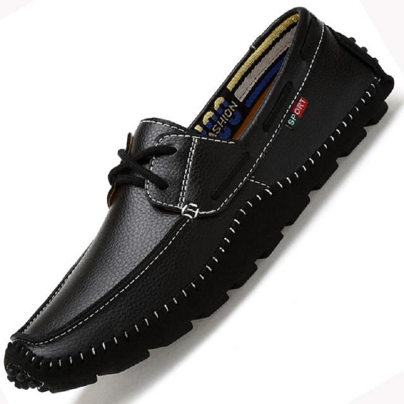 Casual Soft Leather Comfortable Flat Driving Shoes